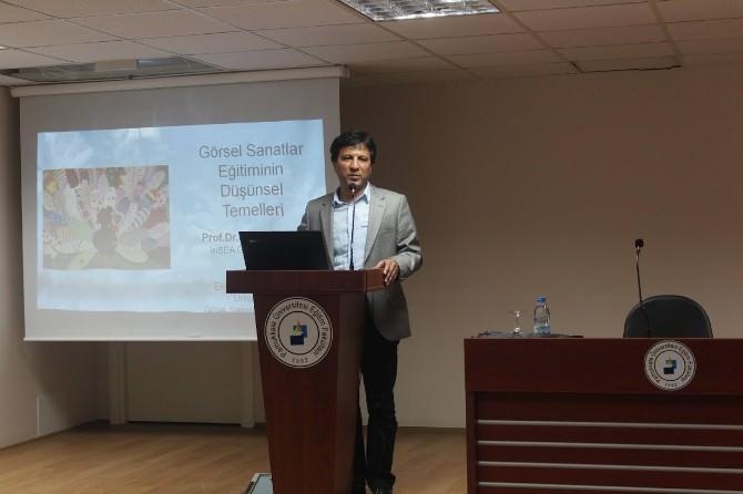 PAÜ'de Görsel Sanatlar Eğitimi Konulu Konferans Düzenlendi