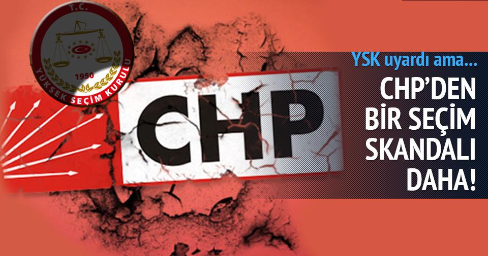 YSK CHP'yi uyardı!