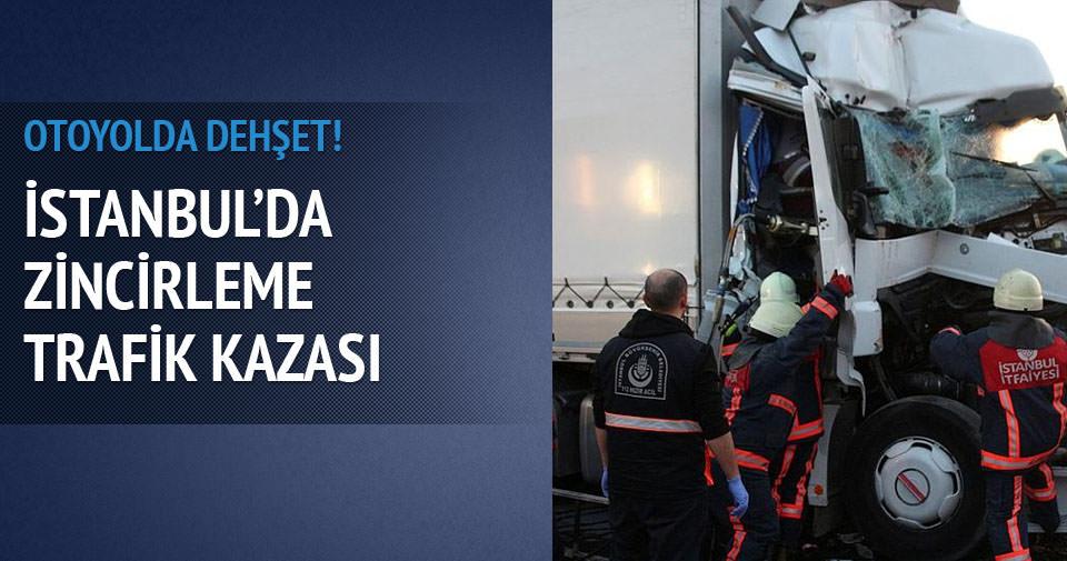 İstanbul'da zincirleme trafik kazası! Yaralılar var
