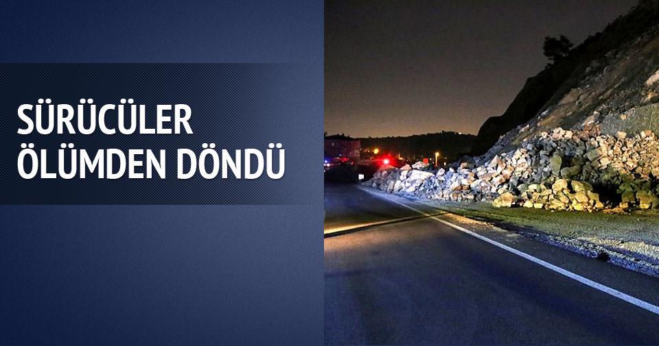 Bursa'da toprak kayması