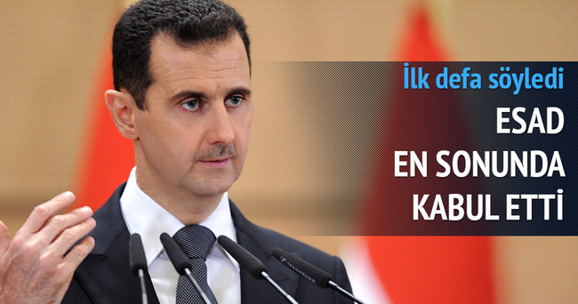 Suriye Lideri Beşar Esad'dan yenilgi itirafı