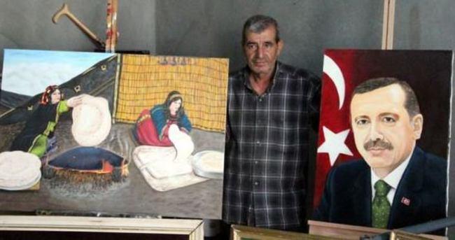 Suriyeli ressam, Erdoğan sevgisini tuvale taşıdı