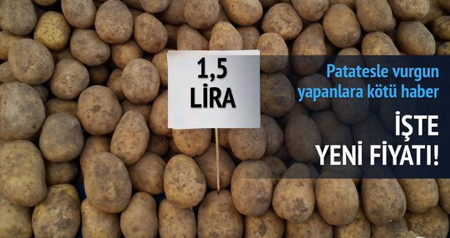 Patatesin  fiyatı 1 buçuk lira olacak