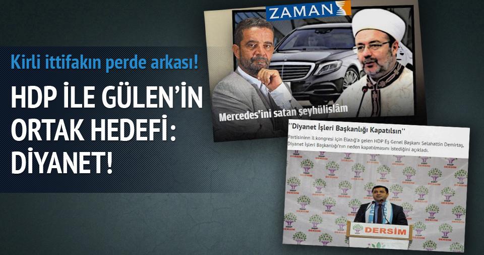 HDP ile Gülen'in ortak hedefi: Diyanet