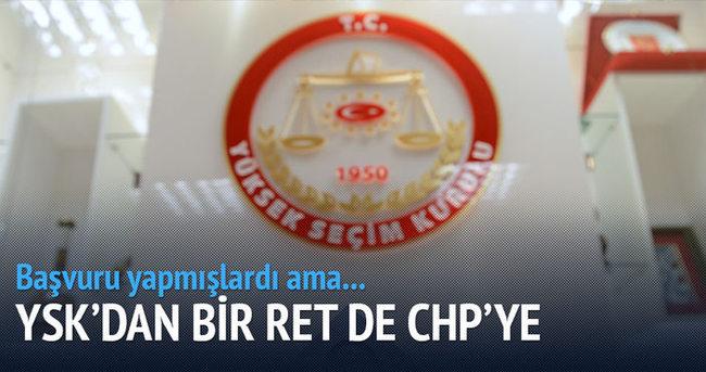 YSK'dan CHP'ye ret