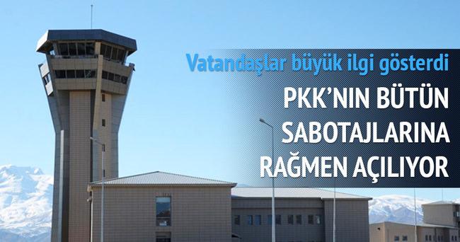Yüksekova Havaalanı'ndan uçuşlar başlıyor