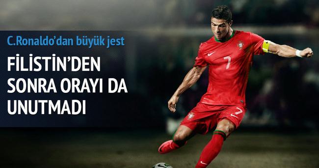 Ronaldo Filistin'den sonra o ülkeyi de unutmadı
