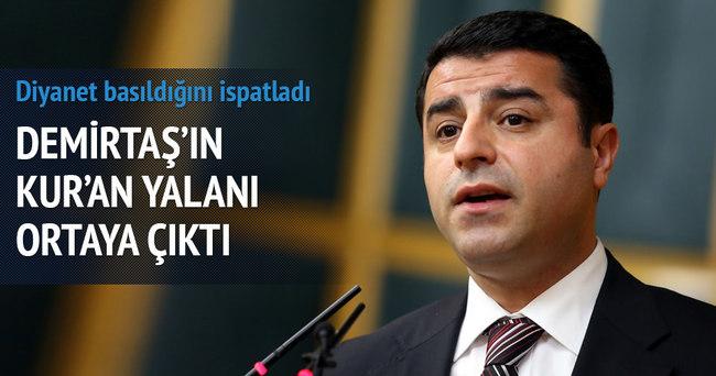 Demirtaş'ın Kürtçe meal yalanı ortaya çıktı!