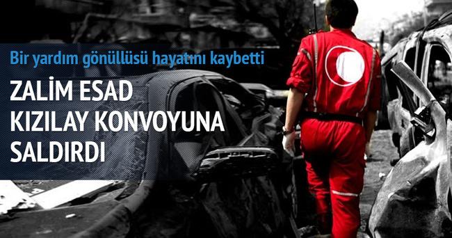 Zalim Esad rejimi Kızılay konvoyunu vurdu!