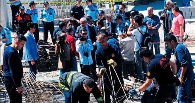 Kahramanmaraş'ta inşaat çöktü: 9 yaralı