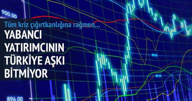 Yabancı yatırımcı borsada coştu