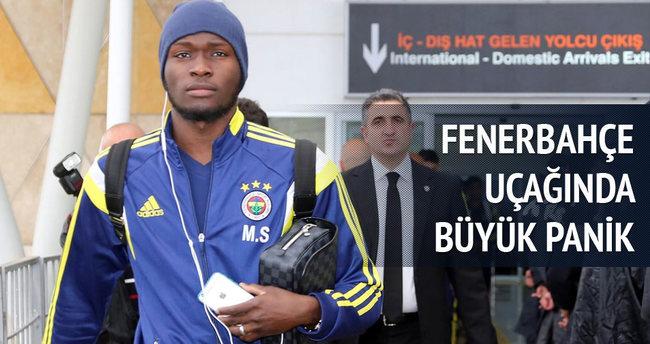 Fenerbahçe uçağında büyük panik