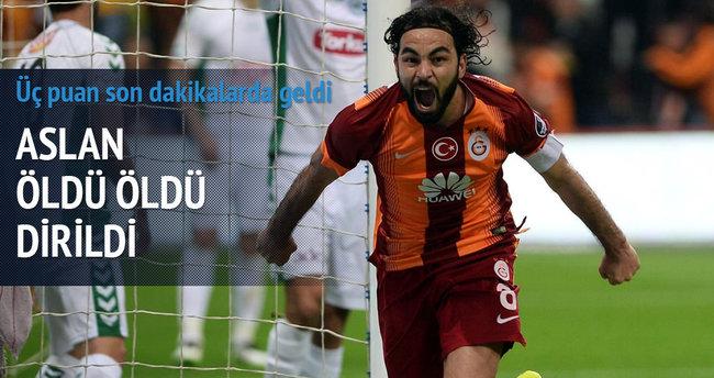 Galatasaray üç puanı söktü aldı