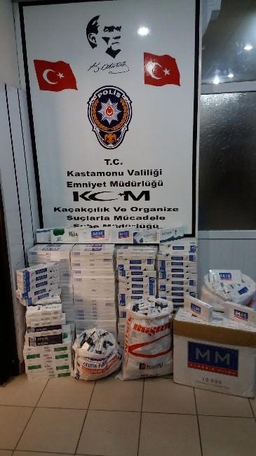 Tosya'da 3 Bin 970 Adet Kaçak Sigara Ele Geçirildi