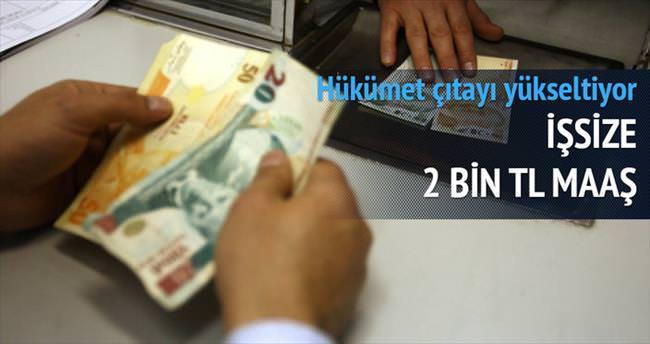 İşsize 2 bin lira