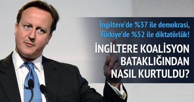 İngiltere'de %37 ile demokrasi, Türkiye'de %52 ile diktatörlük!
