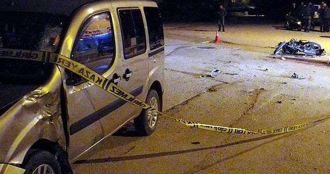 Tokat'ta otomobil ile motosikletli çarpıştı: 1ölü