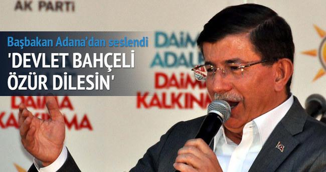 Başbakan Davutoğlu: Bahçeli özür dilesin