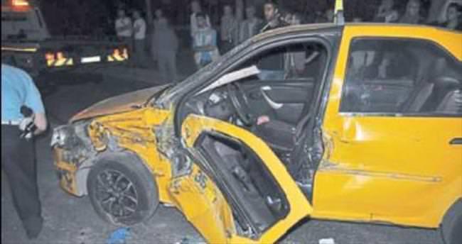 Taksi şoförü feci şekilde can verdi