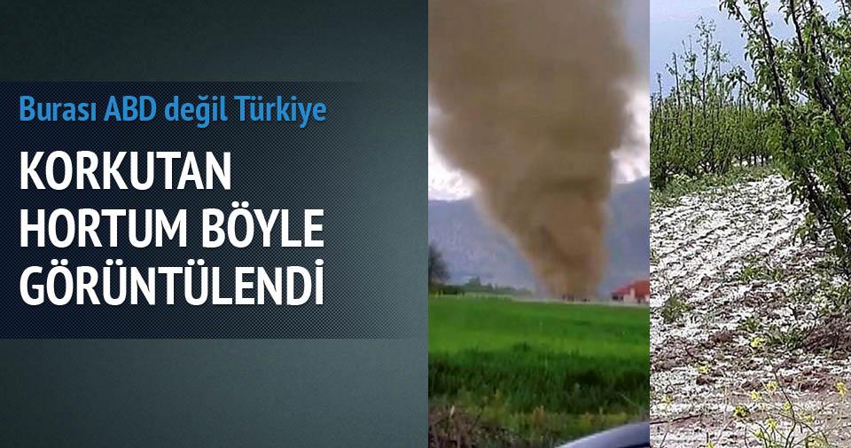 Antalya'daki hortum böyle görüntülendi