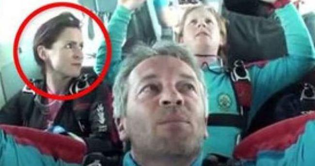 Kocası paraşütünün ipini kesti