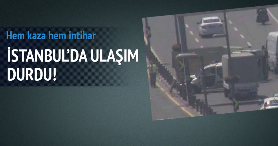 İstanbul'da E-5'te kamyon devrildi