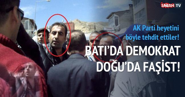 HDP'li adayın kardeşi AK Partili heyete böyle saldırdı