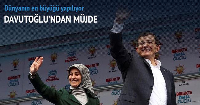 Başbakan Davutoğlu'ndan müjde