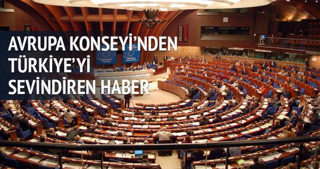 Avrupa Konseyi'nden Türkiye'yi sevindiren haber