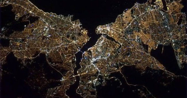 Amerikalı astronot uzaydan İstanbul'u çekti