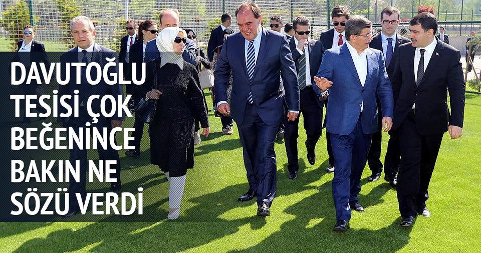 Başbakan Davutoğlu maç sözü verdi