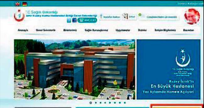 Hastanelerin hedef haritası internette