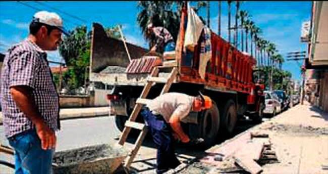 İskenderun'da sokak çalışması