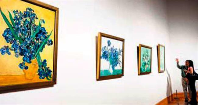 Van Gogh'un çiçekleri ilk kez yan yana
