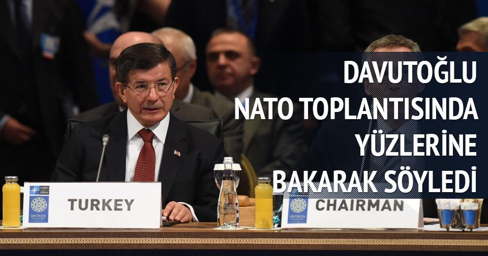 Davutoğlu'ndan NATO ülkelerine Suriye sitemi
