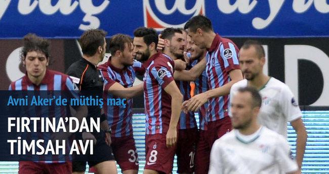 Trabzonspor'dan tek gollü galibiyet