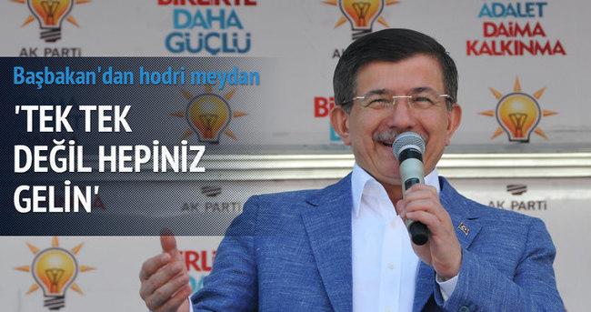 Başbakan Davutoğlu Denizli'de halka seslendi