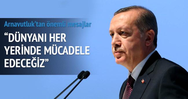 Cumhurbaşkanı Erdoğan Arnavutluk'ta konuştu
