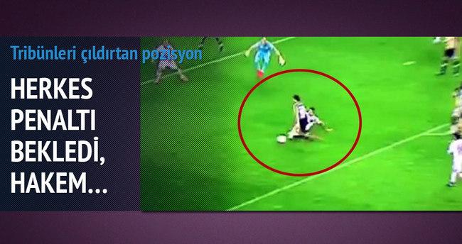 Fenerbahçelileri çıldırtan pozisyon