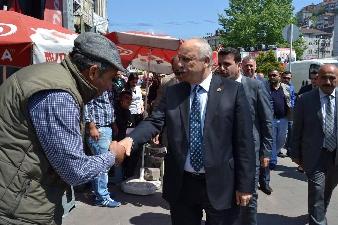 AK Parti Milletvekili Adayı Özbakır Ereğli'de Moral Depoladı