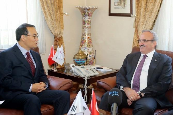 Kore Büyükelçisinden Bursa Valiliği'ne Ziyaret