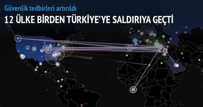 12 ülkeden Türkiye'ye siber saldırı