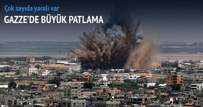Gazze'de patlama! Yaralılar var!