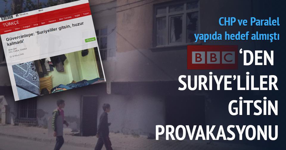 BBC'DEN SURİYELİLER GİTSİN PROVOKASYONU