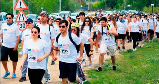 Eskişehir'de renkli koşu