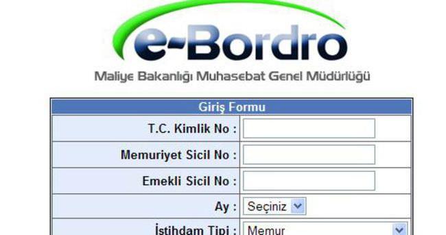 E-bordro sorgulama ekranı