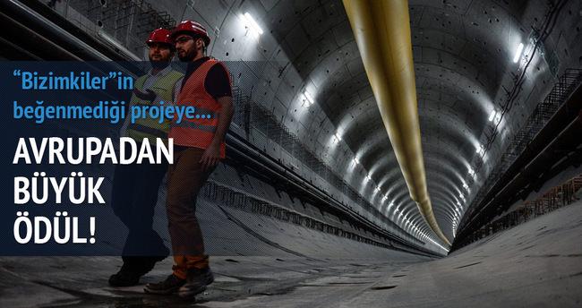 Avrasya Tüneli'ne Avrupa'dan ödül geldi