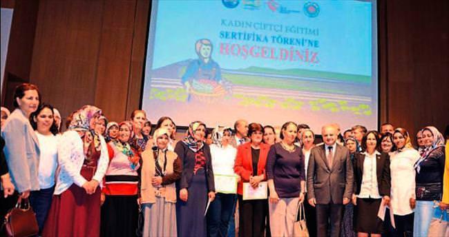 Kadın çiftçiler artık sertifikalı