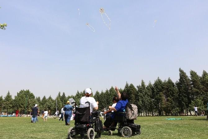 Engelliler Uçurtma Şenliğinde Eğlendi
