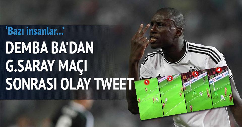 Demba Ba'dan şok tweet